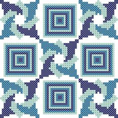 Fabric Designs Excited to share this item from my Monogram Cross Stitch, Cross Stitch Geometric, Geometric Quilt, Cross Stitch Bookmarks, Cross Stitch Art, Modern Cross Stitch, Counted Cross Stitch Patterns, Cross Stitch Designs, Cross Stitching