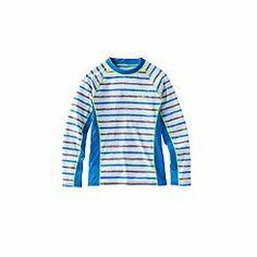 UPF 50+ Boy's Long-sleeve Rash Guard - Print: Sun Protective Clothing - Coolibar