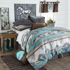 Badlands Sky Bedding Collection- Release your inhibitions and tame the wild and rugged beauty of the Badlands! This bedroom collection brings striking color and pattern to your house on the prairie.