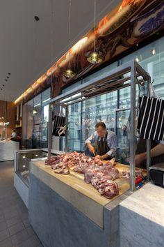 Barbecoa, London.  Interiors by Design Research Studio.