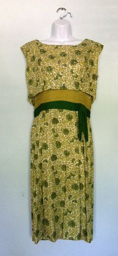 Emerald green gold and chartreuse 1960's