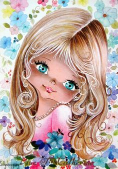 vintage 60's/70's postcard.. we got these at school when it was our birthday :) in Holland I loved them!!   This made me think of you kendall!