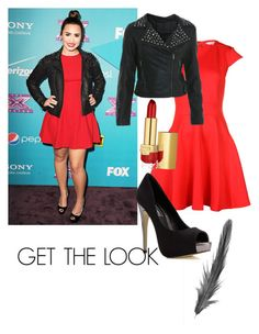 Get the look- Demi Lovato by laisgama on Polyvore featuring polyvore, fashion, style, Ted Baker, Miss Selfridge, Estée Lauder, POLICE and clothing