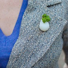 Wearable Planter Pin - yes, a living plant!
