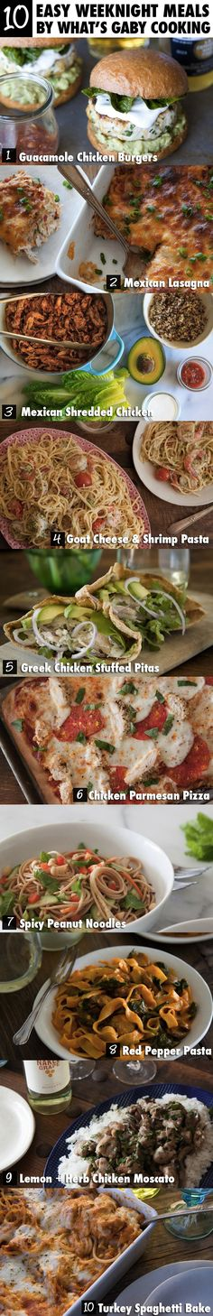 10 Easy Weeknight Meals - What's Gaby Cooking