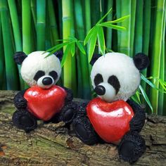 Panda with a heart 3d soap #valentinesdaygift