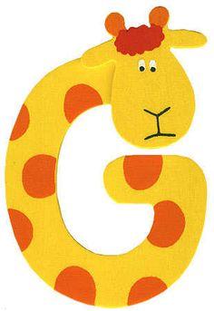 Letter G Giraffe
