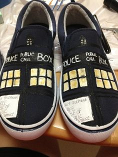 Doctor Who TARDIS shoes on Etsy, $45.00