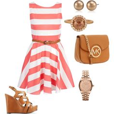 Love the tan and coral