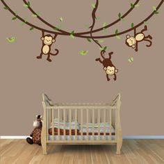 monkeys!! if and when I have a baby this is totally going in there room :)
