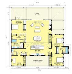 Farmhouse Style House Plan - 3 Beds 2.5 Baths 2168 Sq/Ft Plan #888-7 - Dreamhomesource.com