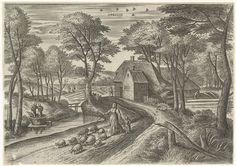 April, Julius Goltzius, Gillis Mostaert (I), Hans van Luyck, ca. 1560 - 1595