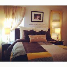 Master bedroom room reveal... #glitterandgrass #blog #decorating #masterbedroom #smallhouse #smallrooms