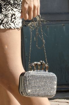 Sleek & Metallic details on this box clutch are guaranteed to give your look an edgy remix @Chevrolet #MalibuStyle