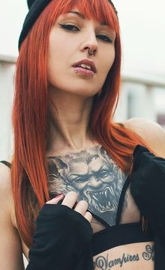 Dracula Inked Tattoo Girl Bram Stoker