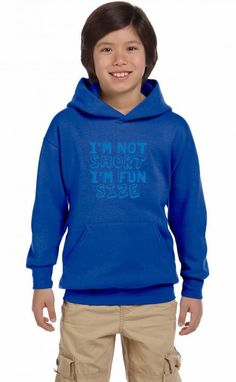 i'm not short i'm fun size Youth Hoodie