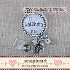 RN Name Badge Reel Personalized Name by ScrapheartGifts on Etsy