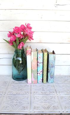 Vintage Books for your Wedding or shelf by sorrythankyou79