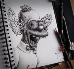 """Artist PEZ """"Distroys"""" Your Childhood   incredible drawing by Pez Art"""