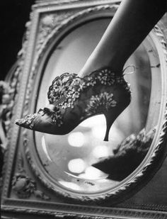 Roger Vivier for Dior by Paul Schulzer in LIFE magazine (1961).