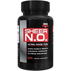 SHEER N.O. Nitric Oxide Booster - Premium Nitric Oxide Supplement for Building Muscle and Strength while Boosting Blood Flow, Stamina, and Endurance, 120 Nitric Oxide Pills, 30 Day Supply