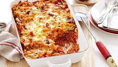 Πένες στο φούρνο με μπέικον και μανιτάρια | Συνταγές - Sintayes.gr Penne, Lasagna, Macaroni And Cheese, Ethnic Recipes, Food, Mac And Cheese, Eten, Meals, Pens