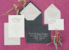 'ello Paper Custom Wedding Stationery | Wediding Invitation | Fête Weddings Styled Shoot | Photo by Adam Barnes Photography