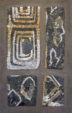 """""""Text-il"""" 84x54cm. marbre, granit, ardoise"""