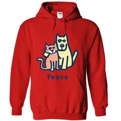 CAT AND DOG - #shirt girl #tumblr sweatshirt. TAKE IT => https://www.sunfrog.com/Pets/CAT-AND-DOG-7852-Red-53201892-Hoodie.html?68278
