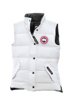canada goose down vest women white