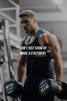 Don't just show up. Make a statement. #fitnessmotivation