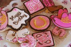 Sweet Cheeks Tasty Treats: {CELEBRATE} Chloe's Cowgirl Princess Birthday Party!  Cowgirl Cookies