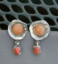 Sunstone Earrings by Mirinda Kossoff
