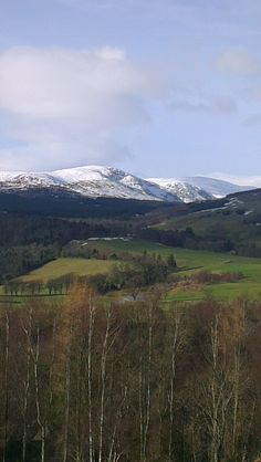 The Cairngorms National Park seen from Crieff