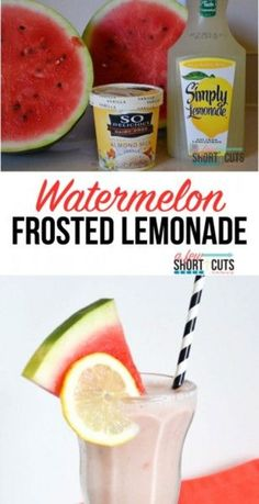 Have you seen the Frosted Lemonade at Chick-Fil-A? Try this Watermelon Frosted Lemonade Recipe that is even better than the original. Plus you can make it dairy free too! by jill Fruit Drinks, Non Alcoholic Drinks, Beverages, Cocktails, Virgin Cocktail Recipes, All You Need Is, Homemade Nutella Recipes, Alcohol Recipes, Drink Recipes
