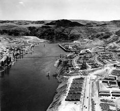 Grand Coulee Dam construction site panorama, July 22, 1935 :: Grand Coulee Dam…