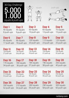 5000 squats & 1000 push ups 30-day challenge..why not??