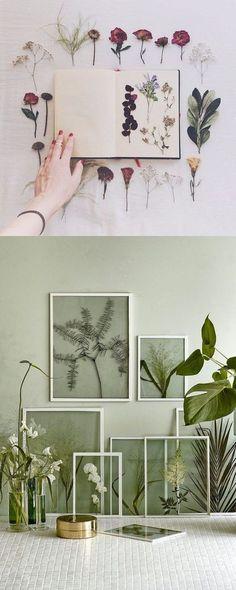 Decora tu pared con flores secas - decoratualma.com - DIY Decor: Dried Flowers