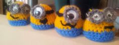 crochet Minions eggwarmers