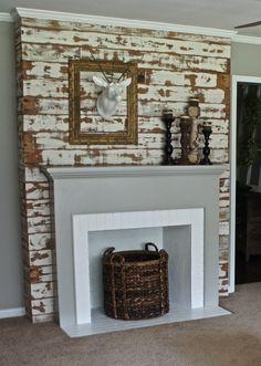 Empty Fireplace Ideas diy faux fireplace | living room | pinterest | faux fireplace
