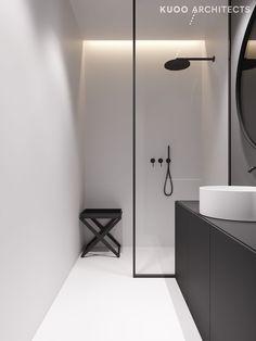 55 Small Bathroom Design and Decor Ideas Minimal Bathroom, Modern Master Bathroom, Modern Bathroom Design, Bathroom Interior Design, Modern Interior Design, Small Bathroom, Serene Bathroom, Light Bathroom, Master Bathrooms