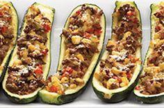 Meat and Vegetable Stuffed Zucchini Recipe - Kraft Canada
