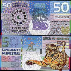 KAMBERRA 50 NUMISMAS 2010 TIGER POLYMER UNC picclick.com