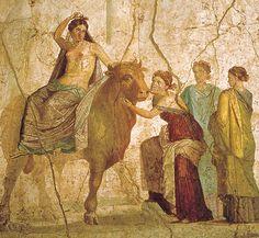 ***El Rapto de Europa. Fresco pompeyano, s. I. Nápoles, M. Arqueológico.
