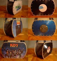 Record purse- Holy Crap!! I would totally  make these!!