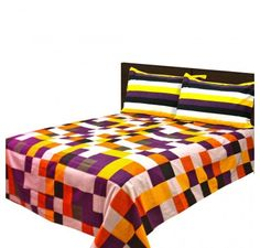 Buy Double Cotton bedsheet with red cross squares Online @ 599 Only. Visit Loomkart.com for more offers & discounts on Bed Sheets.