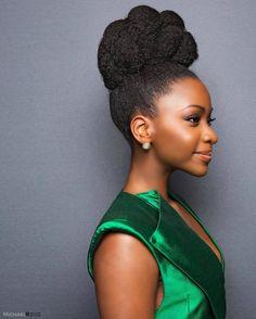 Up do for Natural Hair | Elegant hair inspiration | black beauty | formal hair formal wear
