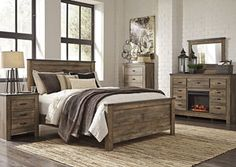 Trinell Queen Panel Bed w/ Dresser and Mirror, /category/bedrooms/trinell-queen-panel-bed-w-dresser-and-mirror.html