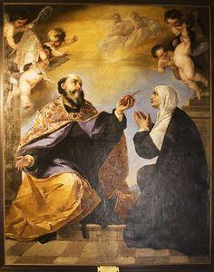 saint monica | St. Monica with her son, St. Augustine