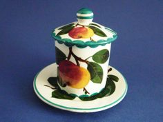 Wemyss Ware 'Apples' Preserve Pot c1910